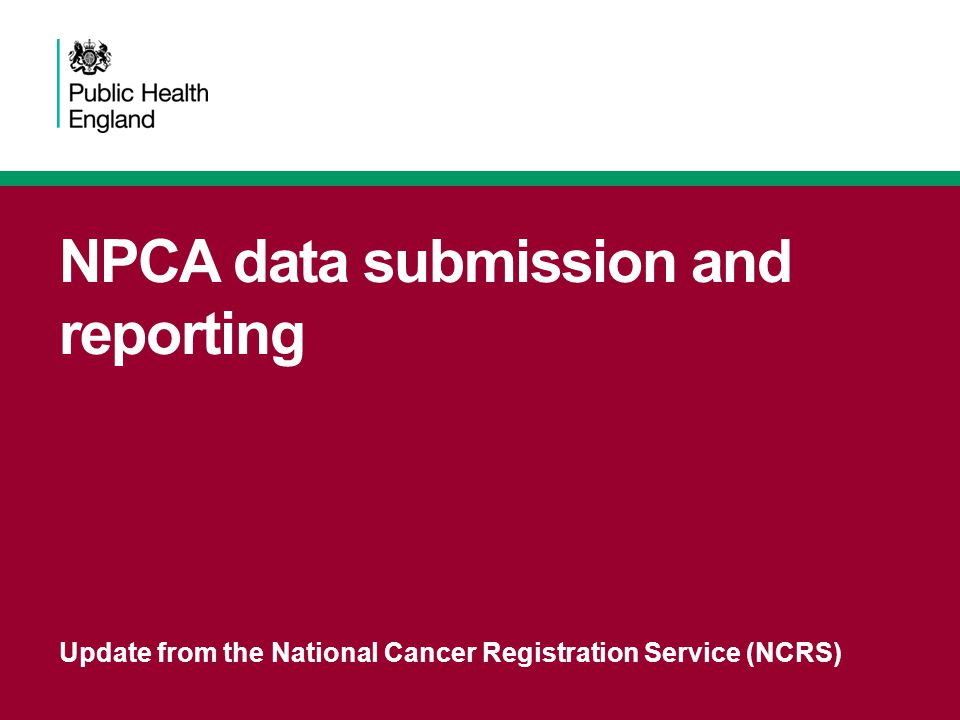 NPCA data submission and reporting