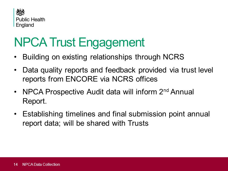 NPCA Trust Engagement Building on existing relationships through NCRS