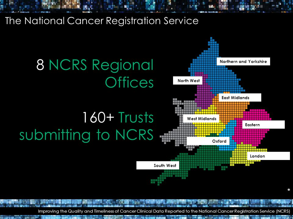 160+ Trusts submitting to NCRS