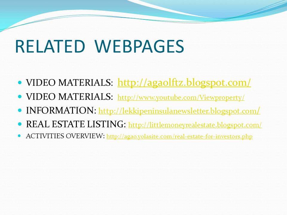 RELATED WEBPAGES VIDEO MATERIALS: http://agaolftz.blogspot.com/