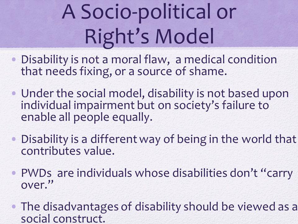 A Socio-political or Right's Model