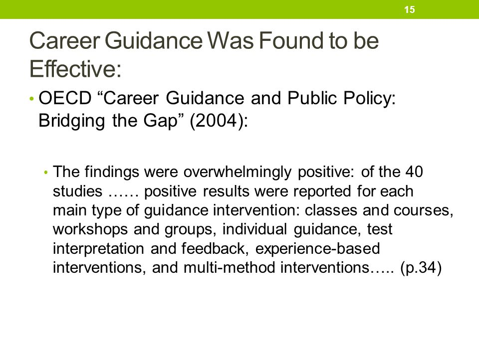 Career Guidance Was Found to be Effective: