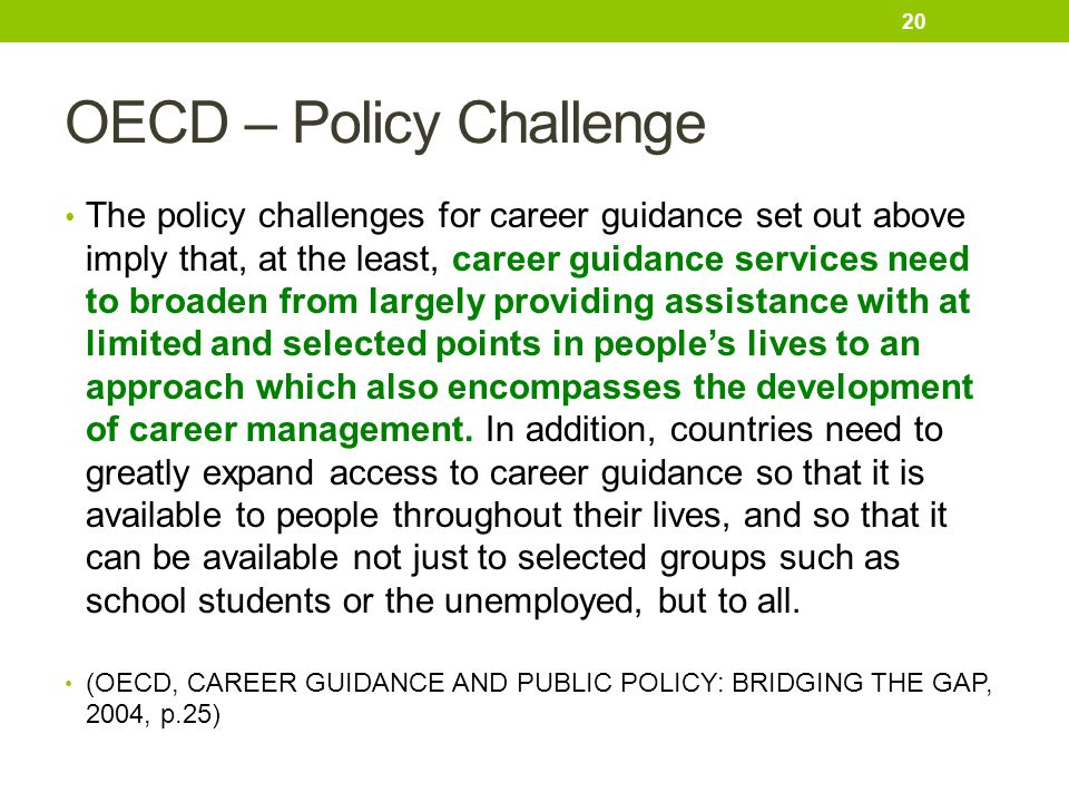 OECD – Policy Challenge