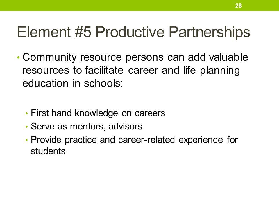 Element #5 Productive Partnerships