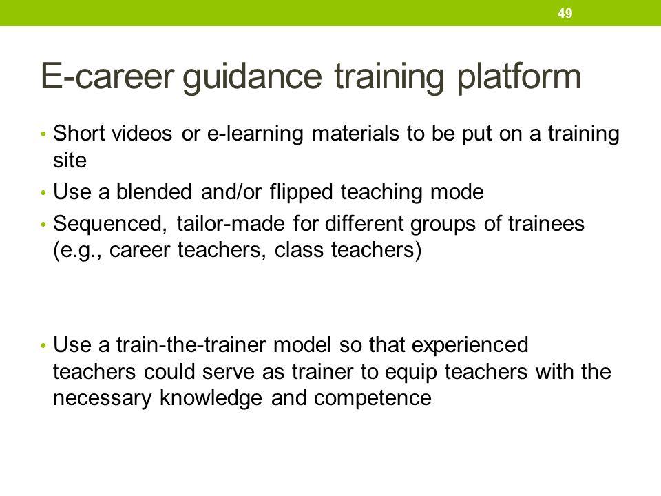 E-career guidance training platform