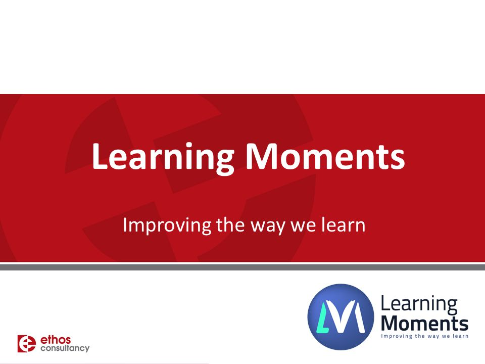 Improving the way we learn
