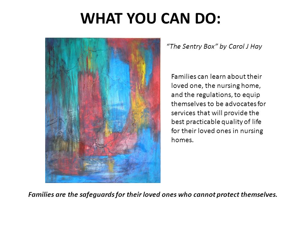 WHAT YOU CAN DO: The Sentry Box by Carol J Hay
