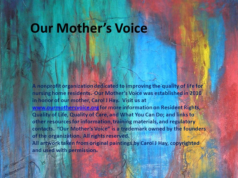 Our Mother's Voice