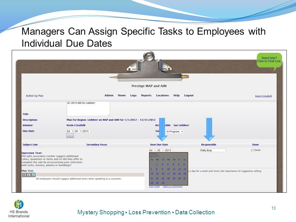Managers Can Assign Specific Tasks to Employees with Individual Due Dates