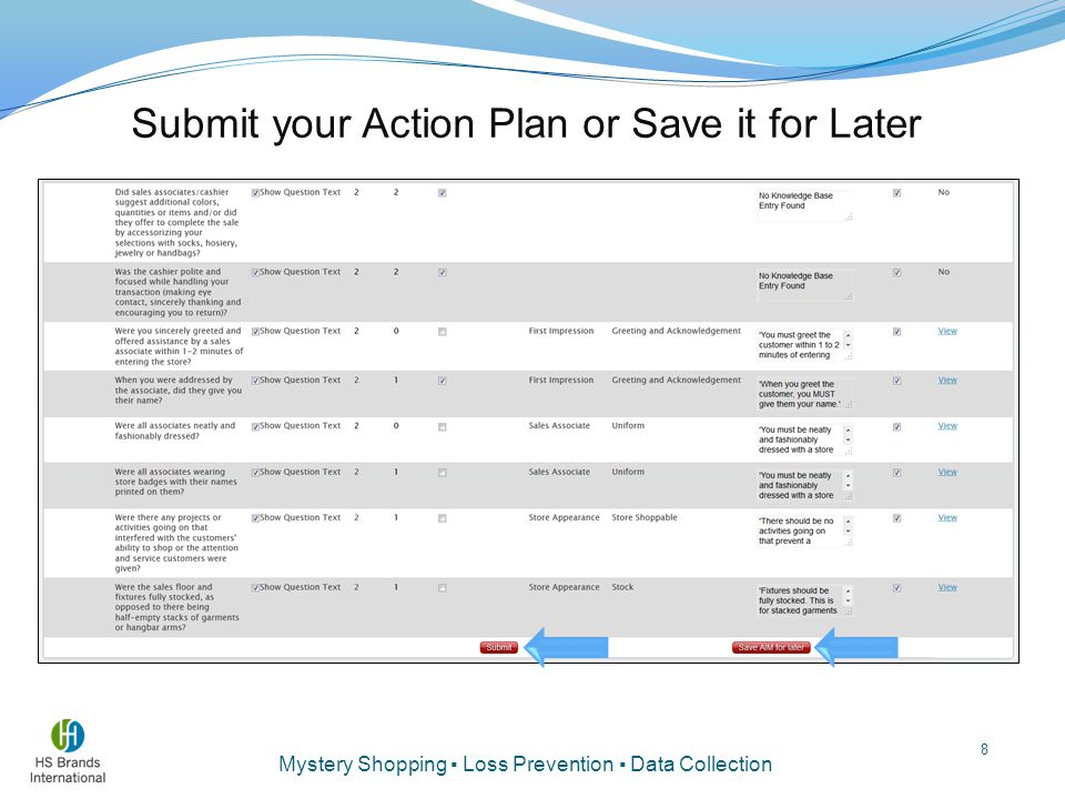 Submit your Action Plan or Save it for Later