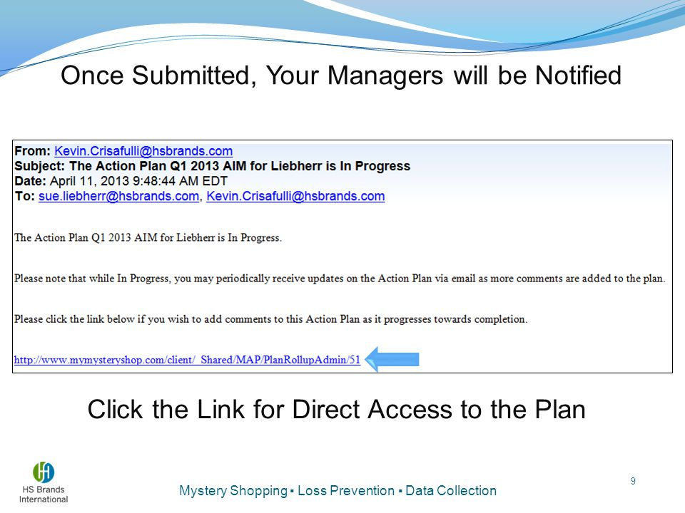 Click the Link for Direct Access to the Plan