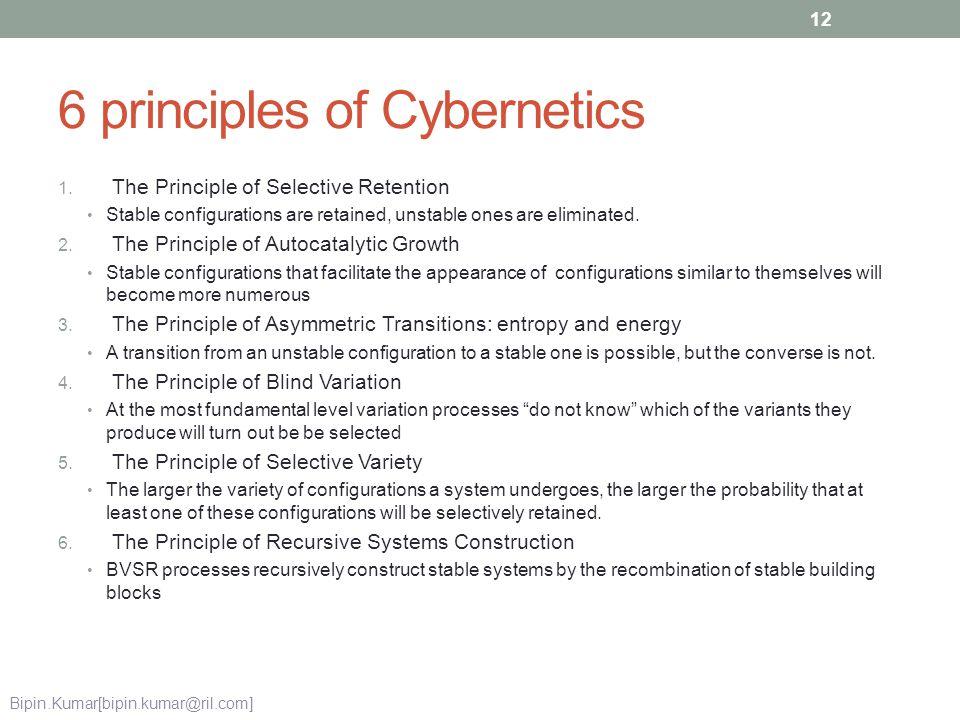 6 principles of Cybernetics