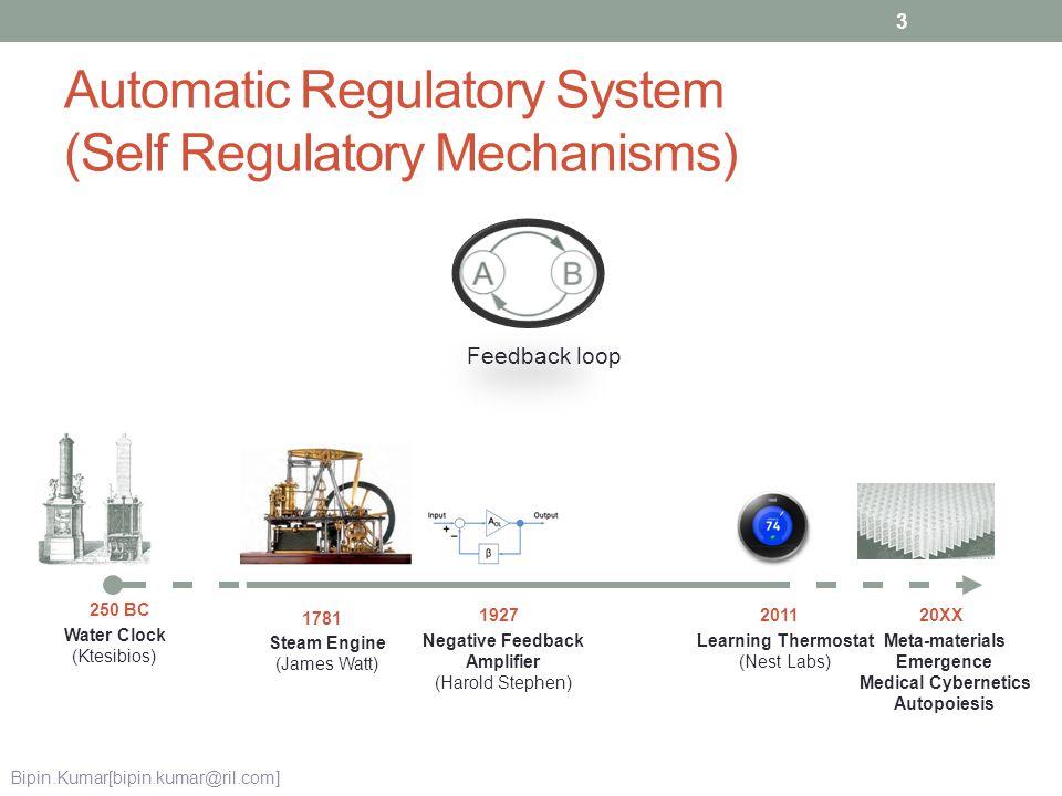 Automatic Regulatory System (Self Regulatory Mechanisms)