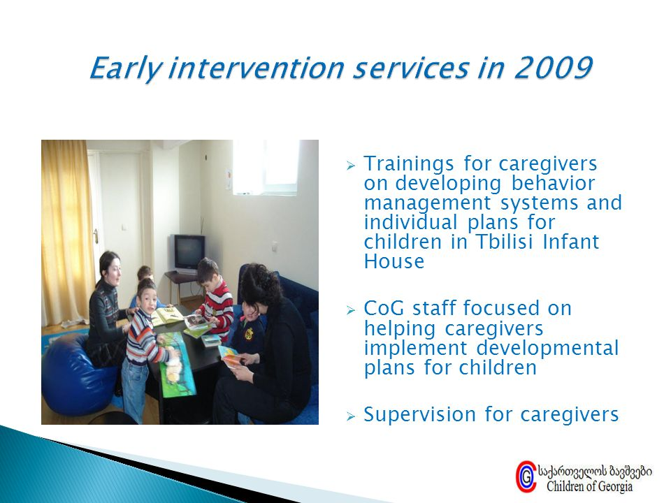 Early intervention services in 2009