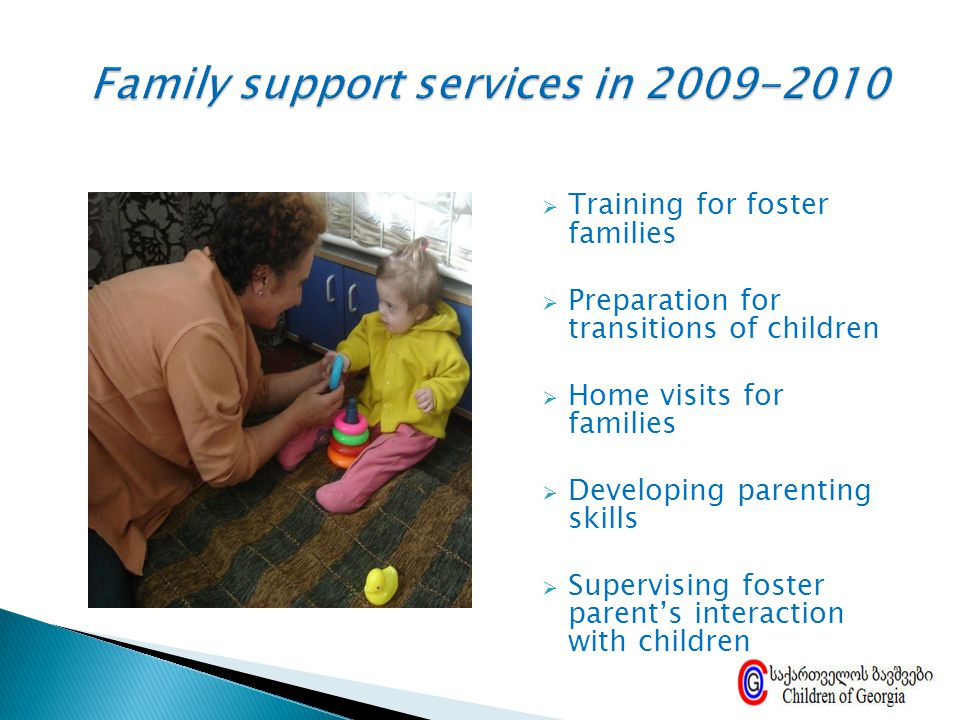 Family support services in 2009-2010