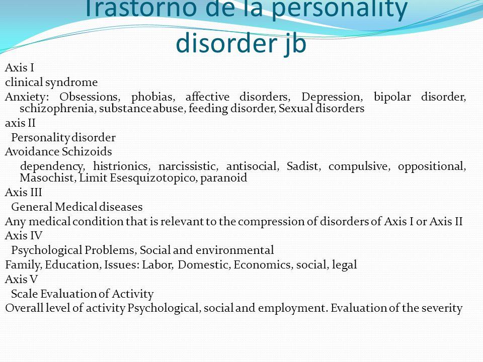 Trastorno de la personality disorder jb