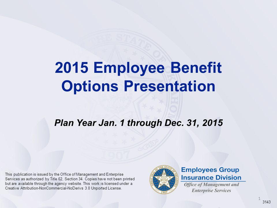 2015 Employee Benefit Options Presentation