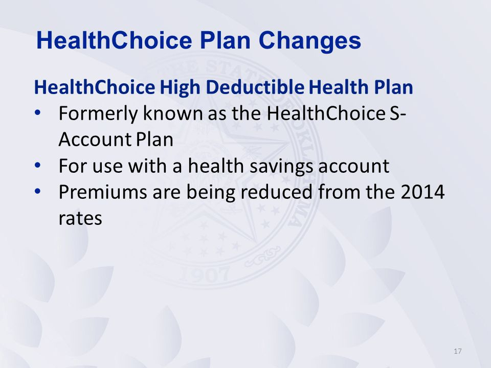 HealthChoice Plan Changes