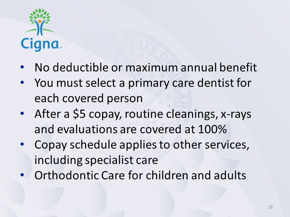 No deductible or maximum annual benefit