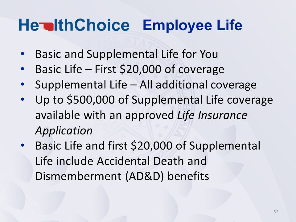 Employee Life Basic and Supplemental Life for You