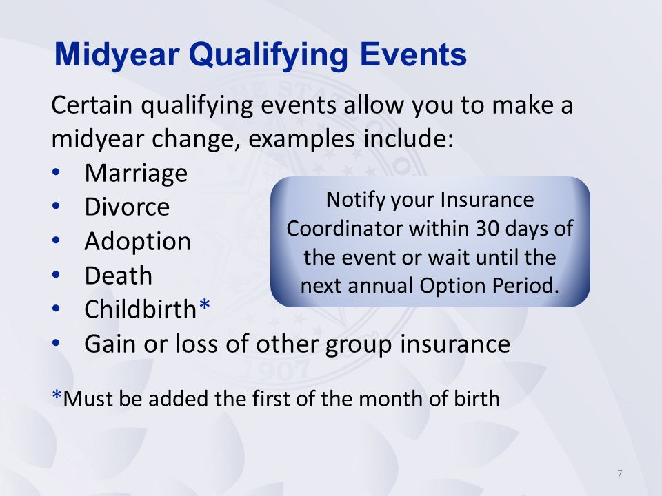 Midyear Qualifying Events