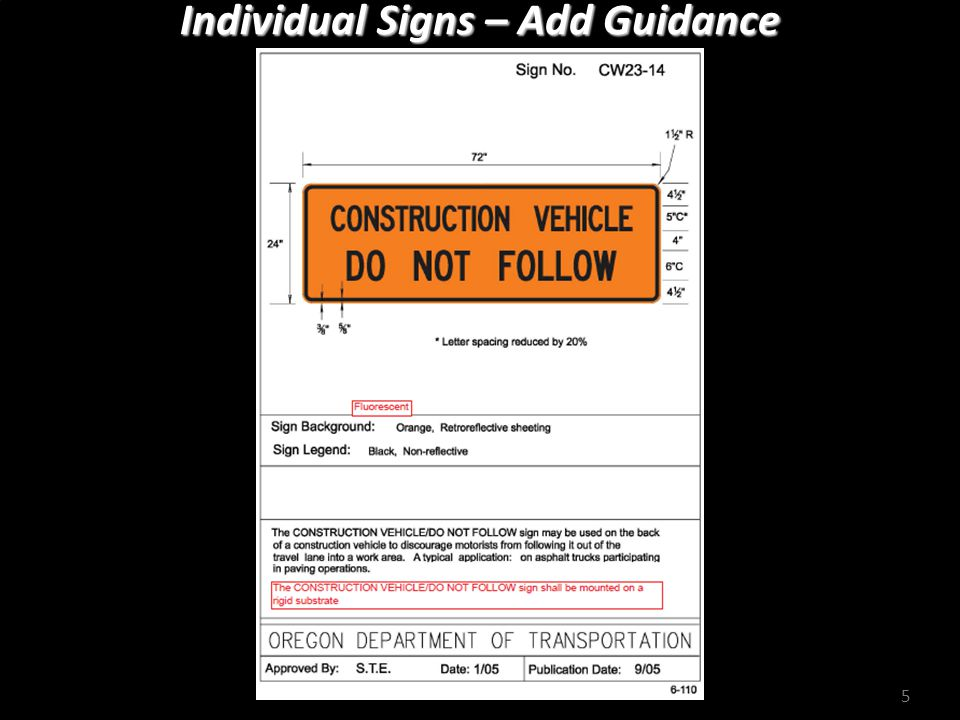 Individual Signs – Remove Reference