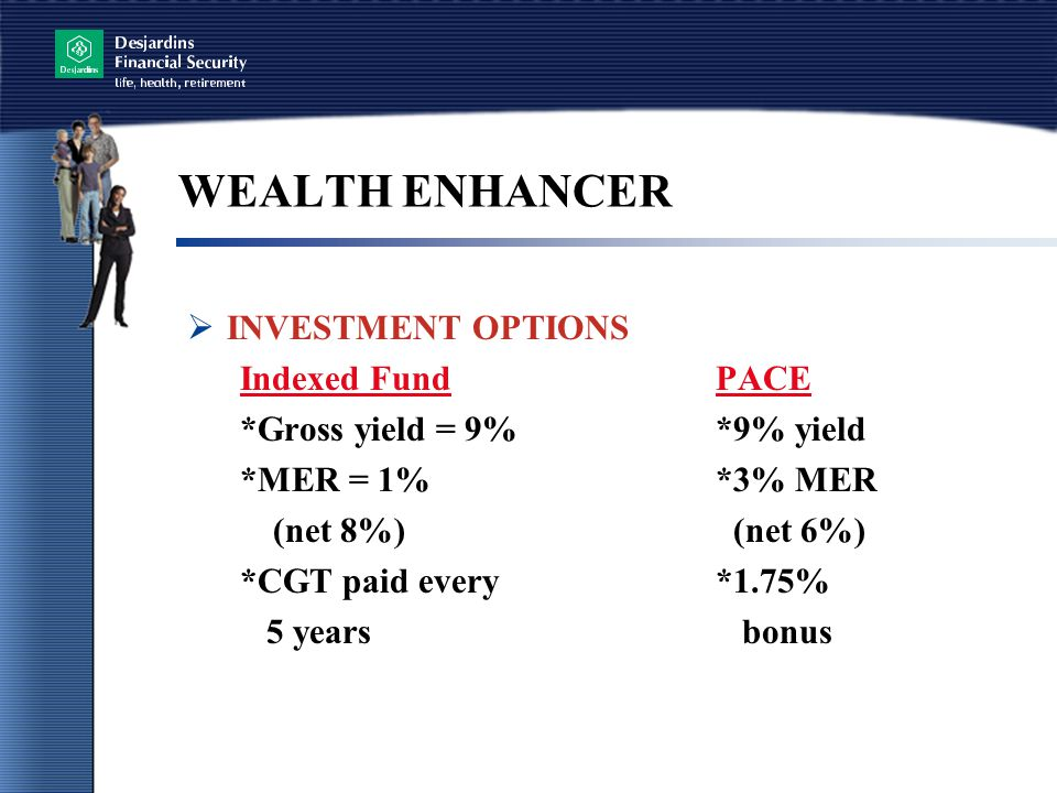 WEALTH ENHANCER INVESTMENT OPTIONS Indexed Fund PACE