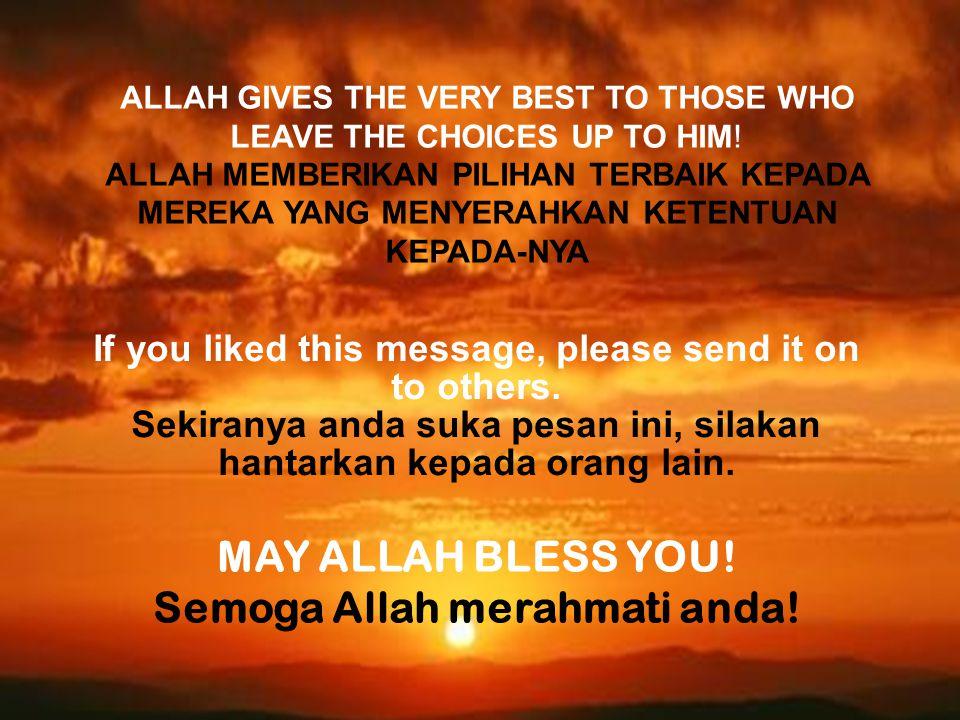MAY ALLAH BLESS YOU! Semoga Allah merahmati anda!