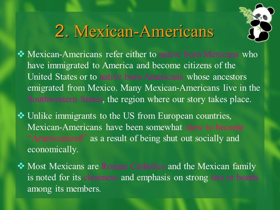 2. Mexican-Americans