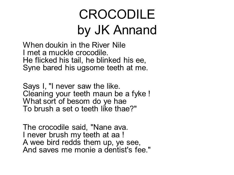 CROCODILE by JK Annand