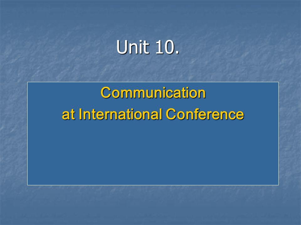 Communication at International Conference