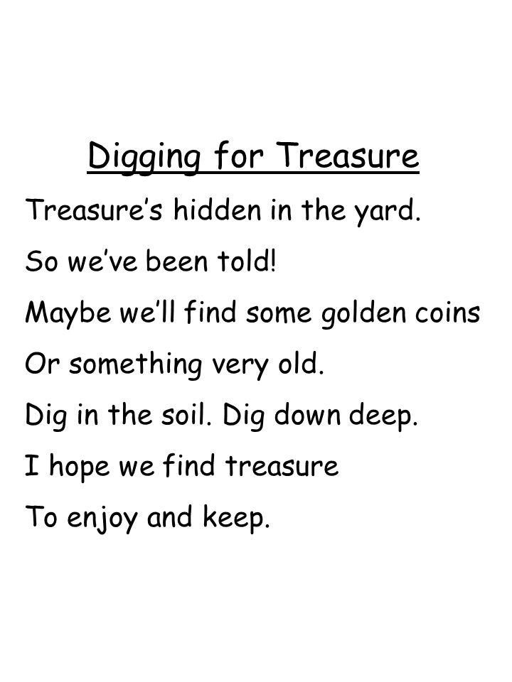 Digging for Treasure Treasure's hidden in the yard.