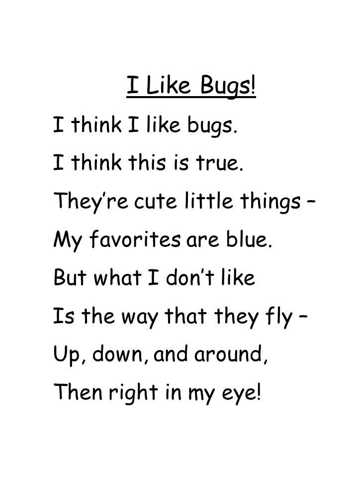 I Like Bugs! I think I like bugs. I think this is true.