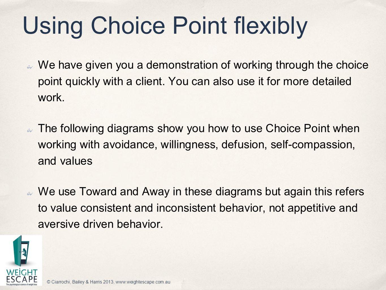 Using Choice Point flexibly
