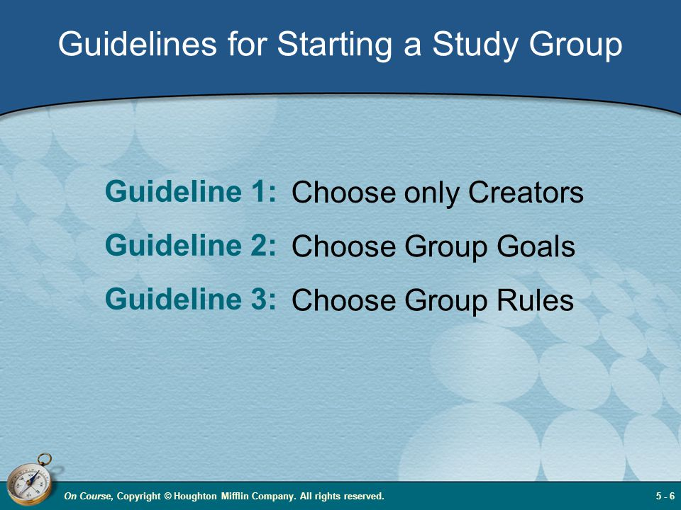 Guidelines for Starting a Study Group