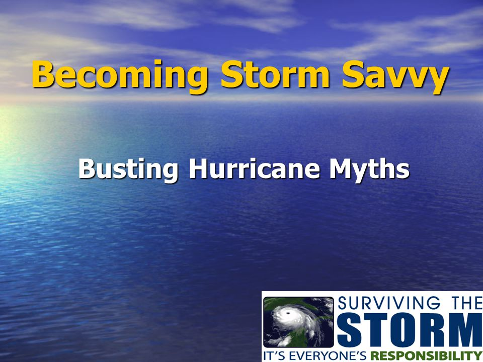 Busting Hurricane Myths