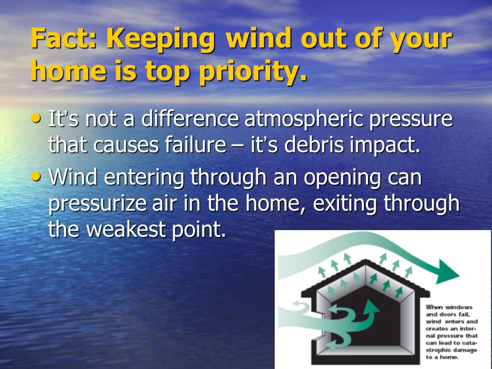 Fact: Keeping wind out of your home is top priority.