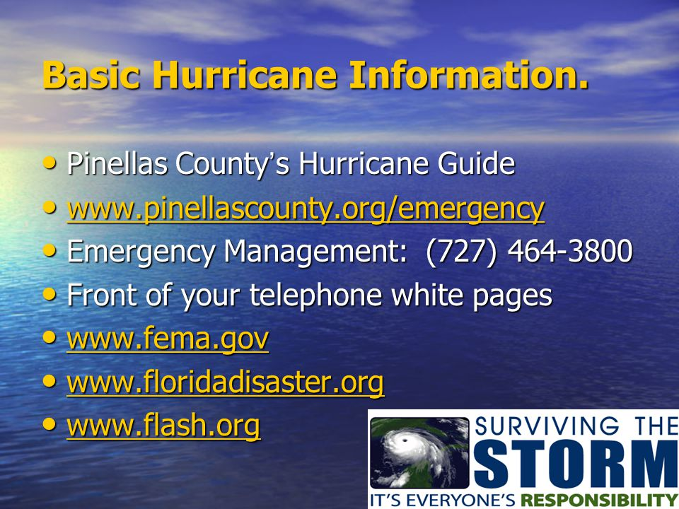 Basic Hurricane Information.