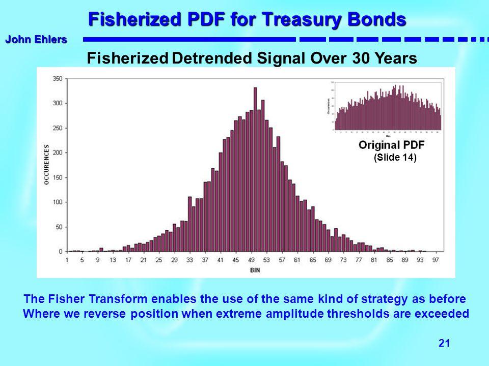 Fisherized PDF for Treasury Bonds