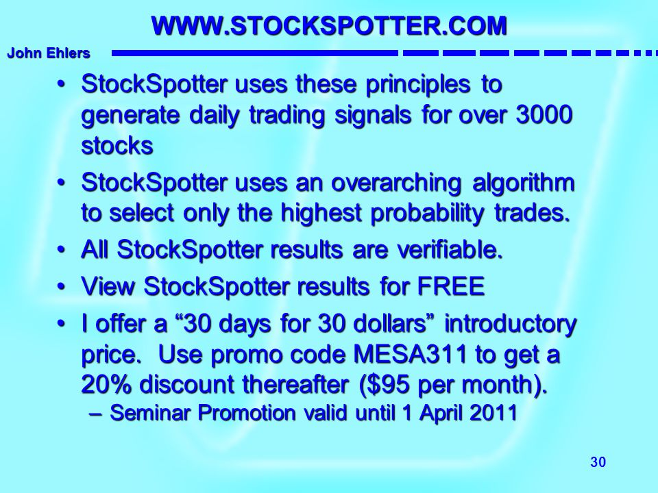 All StockSpotter results are verifiable.