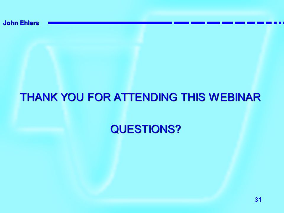 THANK YOU FOR ATTENDING THIS WEBINAR