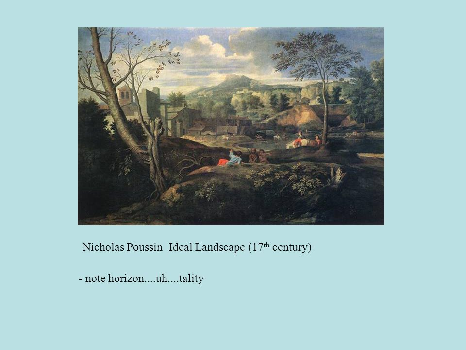Nicholas Poussin Ideal Landscape (17th century)