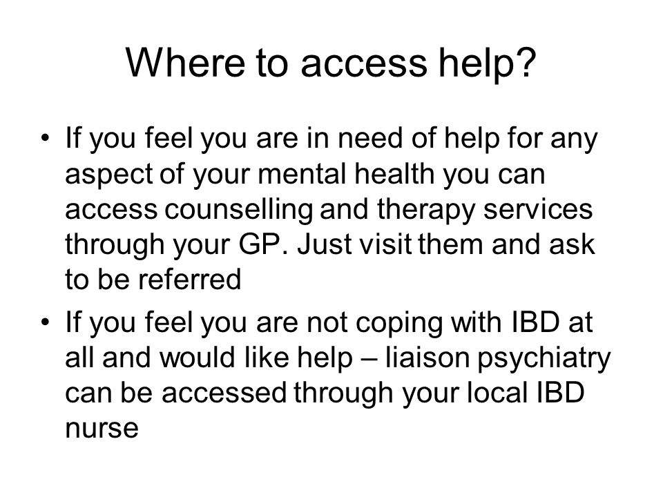 Where to access help