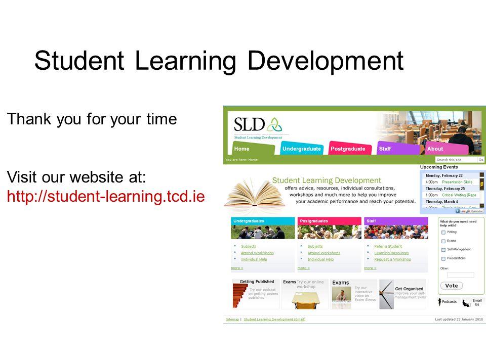 Student Learning Development