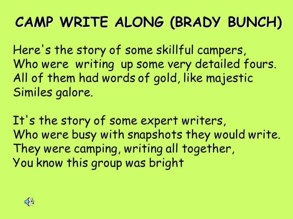CAMP WRITE ALONG (BRADY BUNCH)