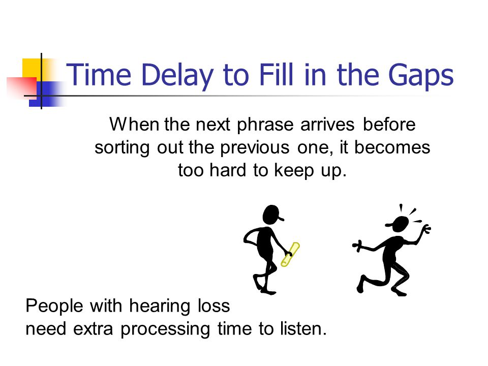 Time Delay to Fill in the Gaps