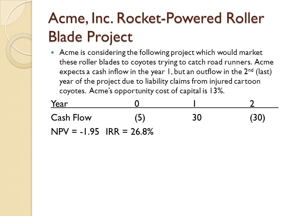 Acme, Inc. Rocket-Powered Roller Blade Project