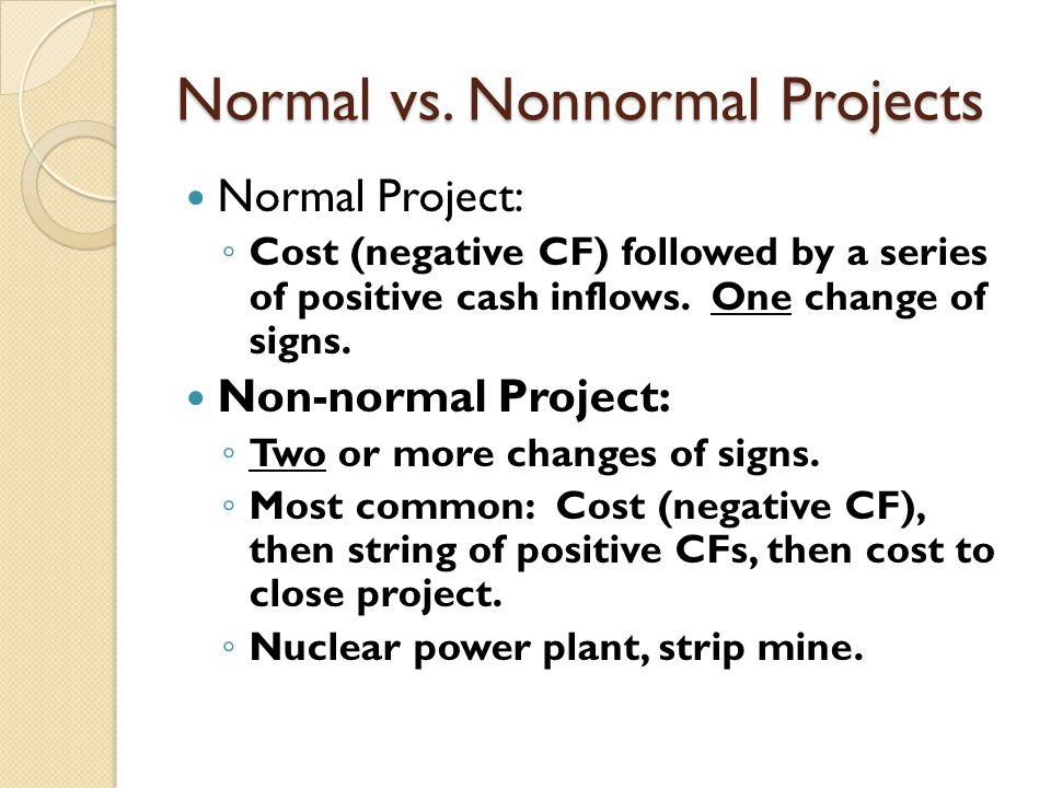 Normal vs. Nonnormal Projects