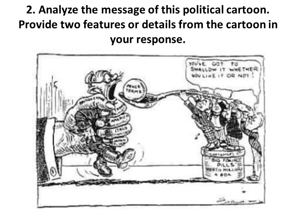 2. Analyze the message of this political cartoon