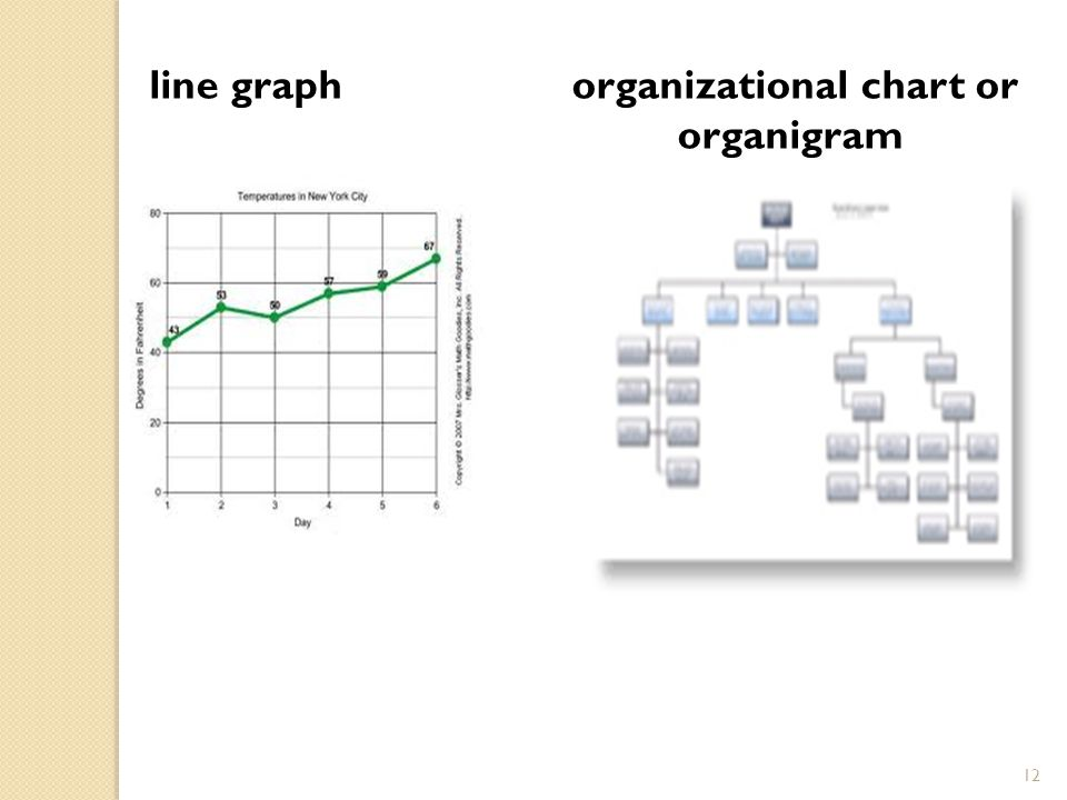 line graph organizational chart or